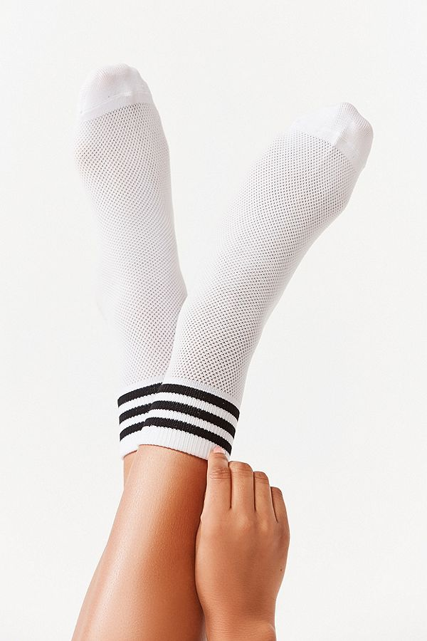 Adidas striped quarter socks
