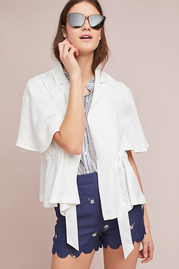 anthropologie cinched kimono