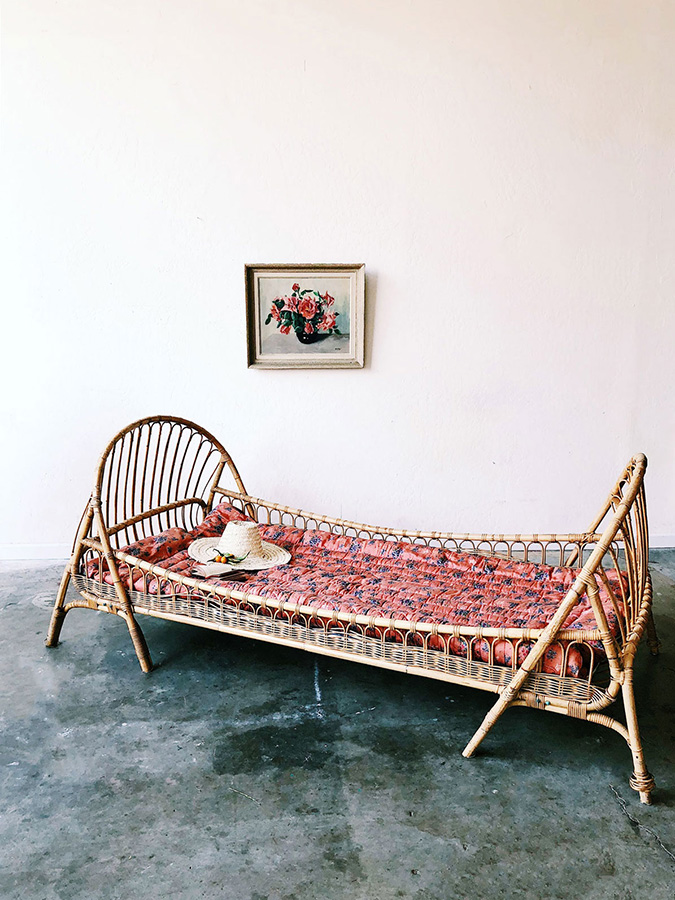 vintage bamboo day bed