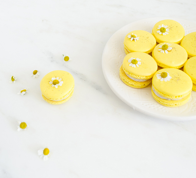 Recipe Box: Chamomile Macarons