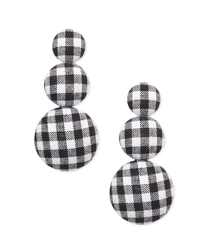 Forever21 gingham earrings