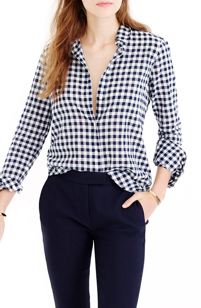 J.Crew gingham button up