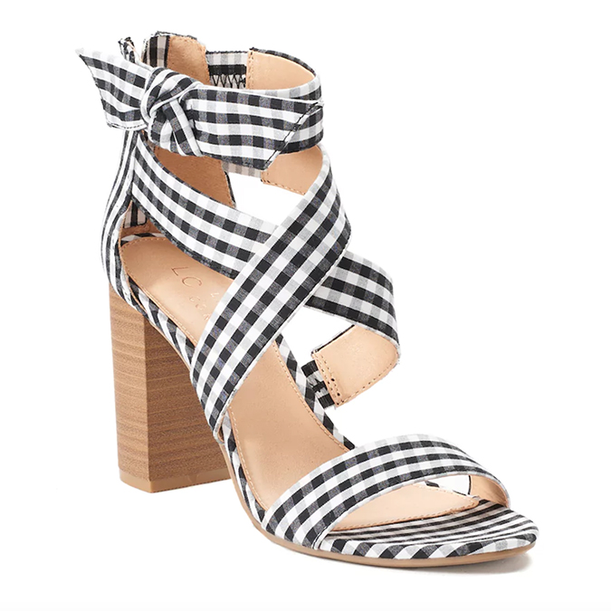 LC Lauren Conrad gingham high heels