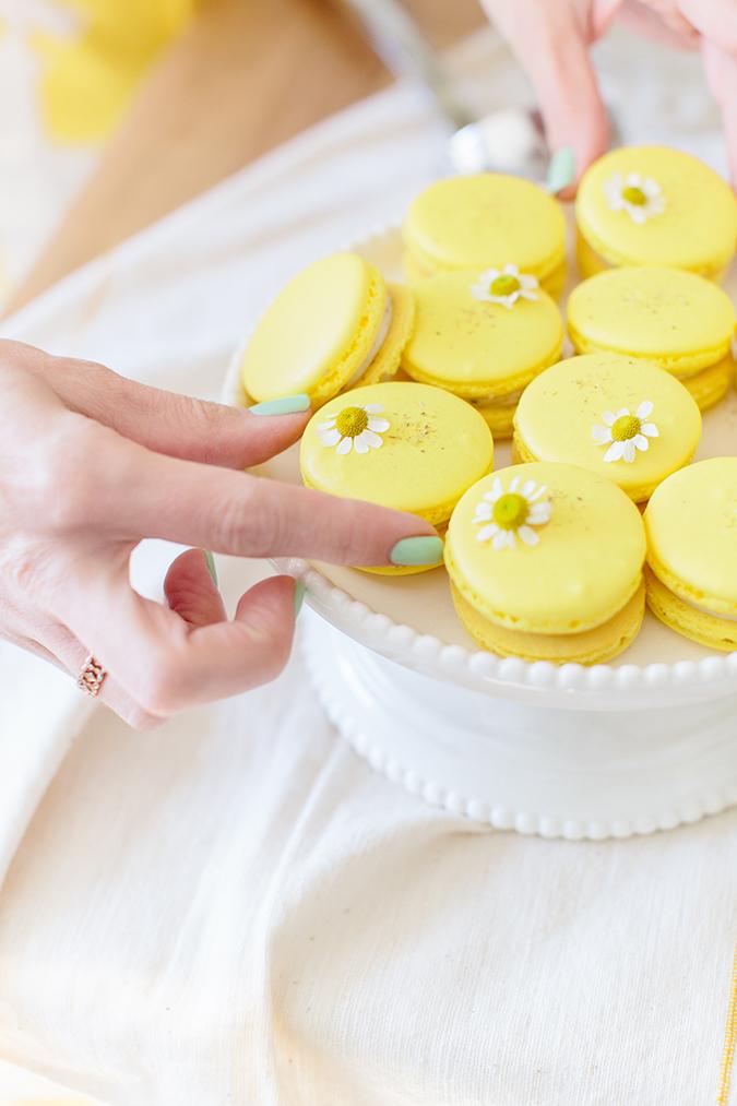 chamomile easter macarons recipe