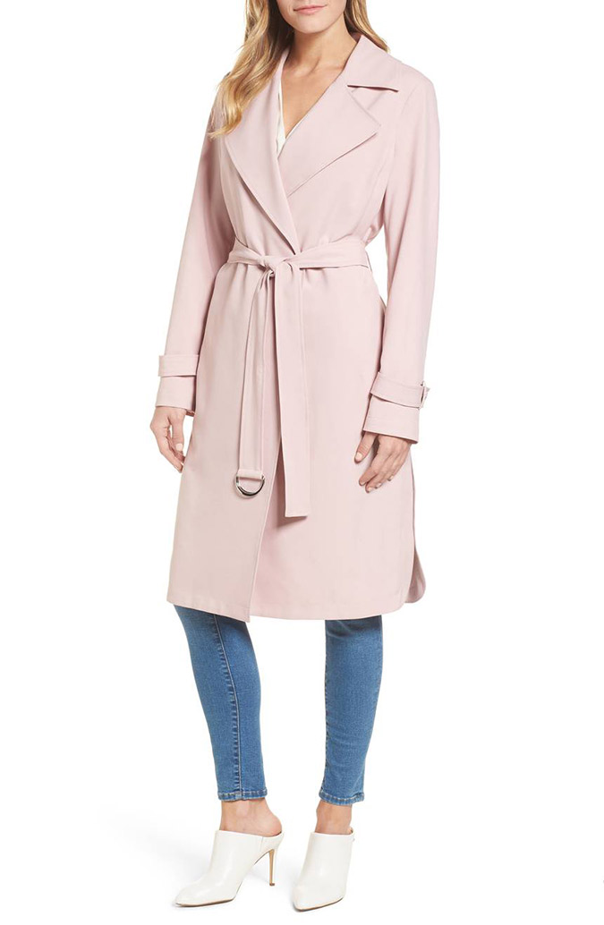 Michael Kors pink trench