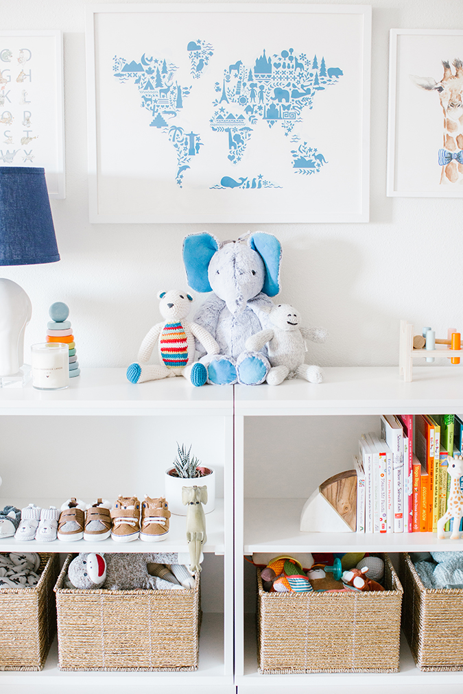 boys nursery details via Pottery Barn on LaurenConrad.com