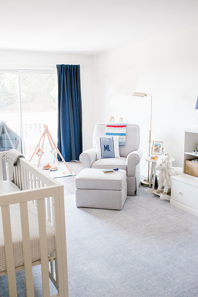 nursery makeover with Pottery Barn