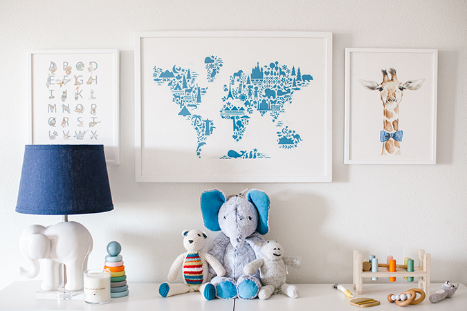 nursery makeover with Pottery Barn Kids