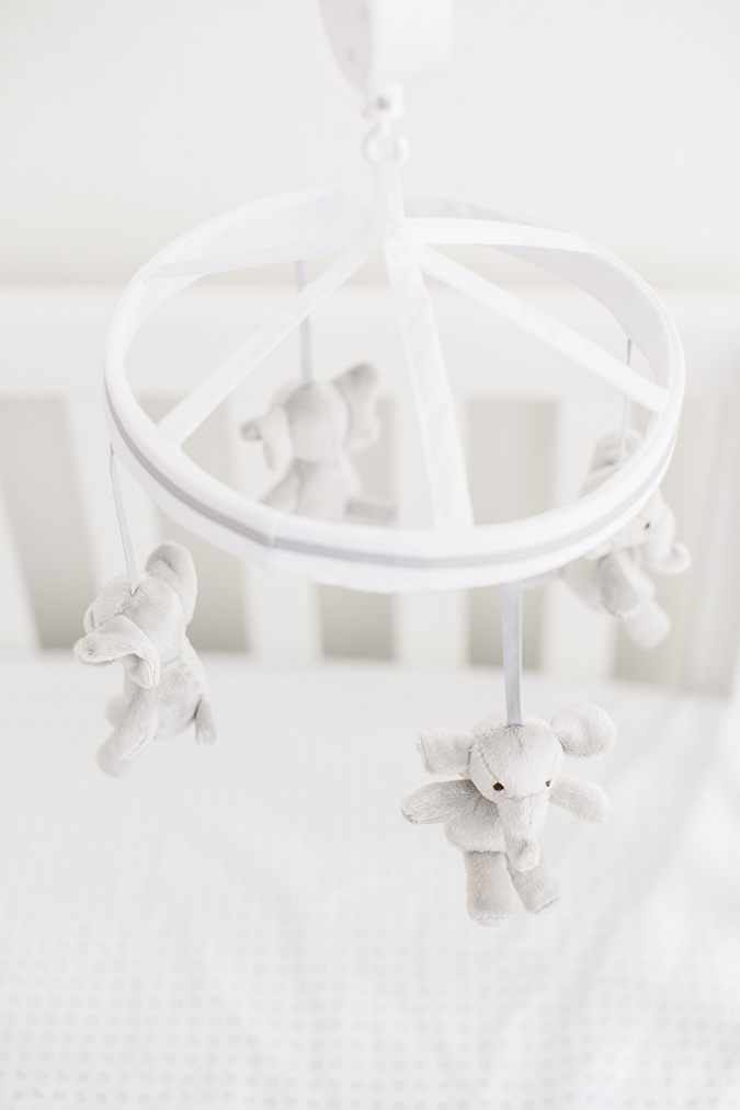 elephant mobile for the nursery from Pottery Barn