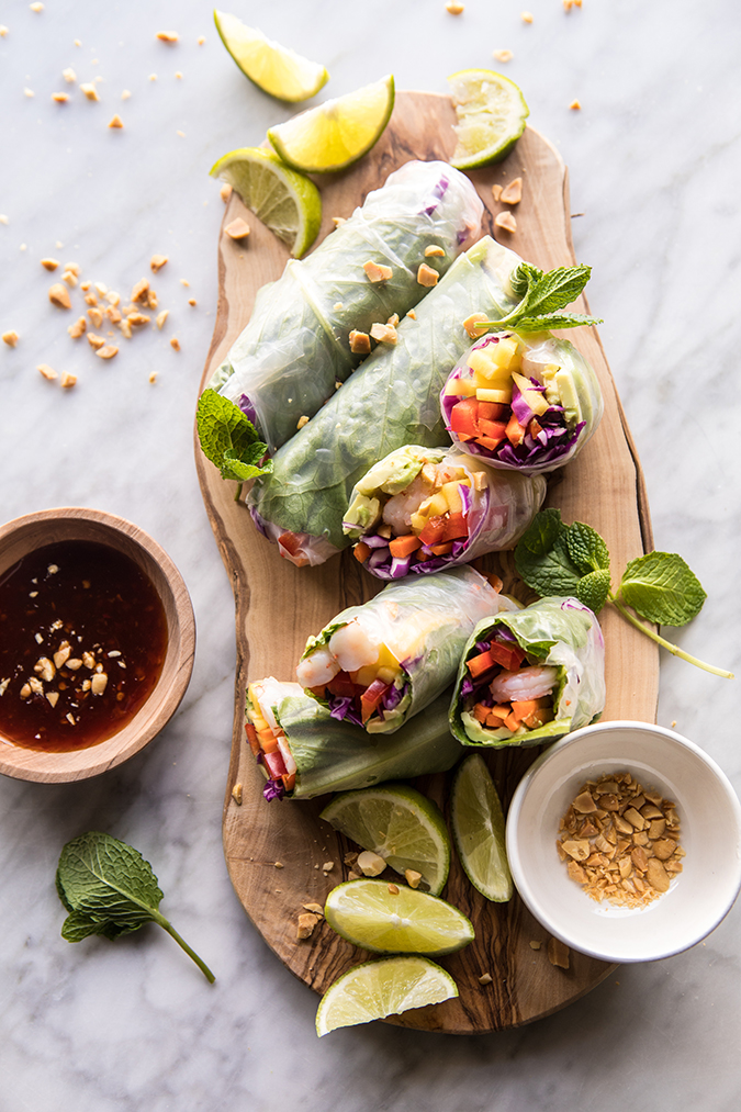 shrimp and mango summer rolls on laurenconrad.com