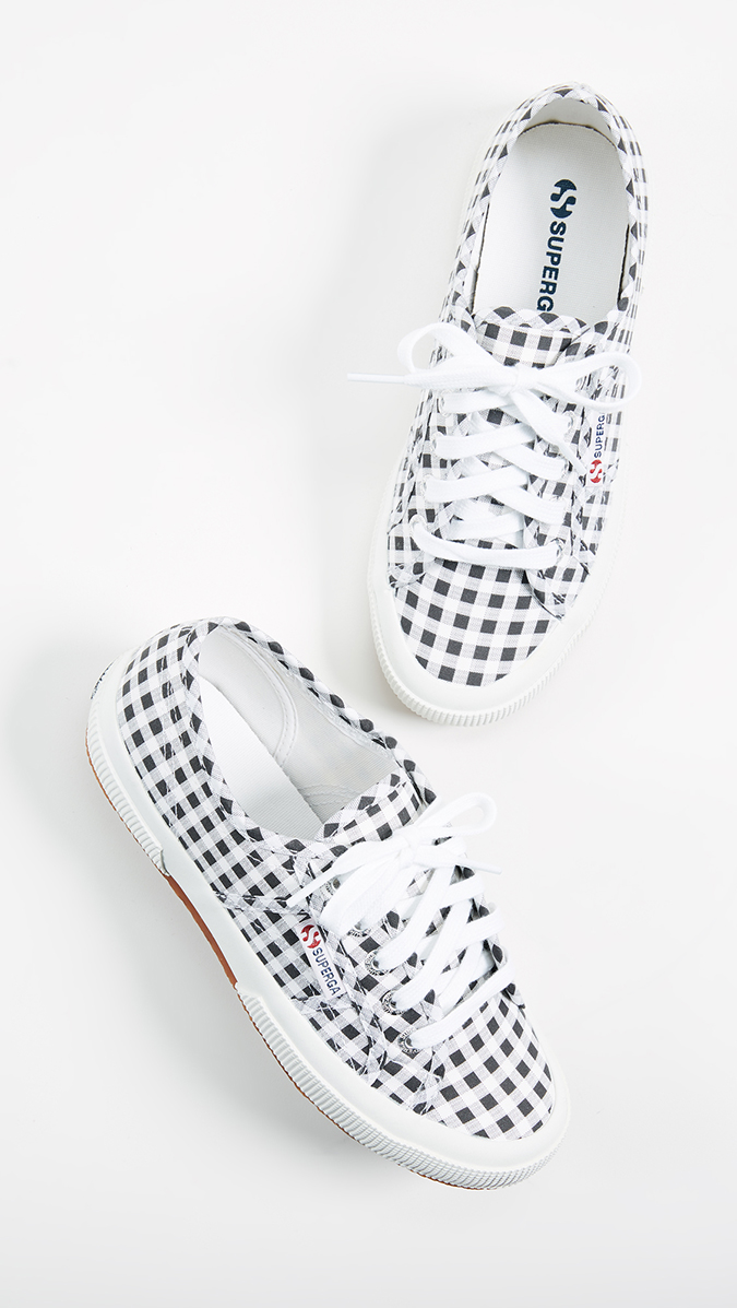 Superga gingham sneakers