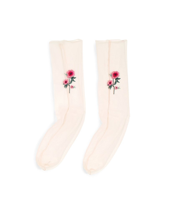 party store blush socks