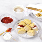Recipe Box: Sweet Laurel Scones with Coconut Crème Fraiche and Mixed Berry Jam