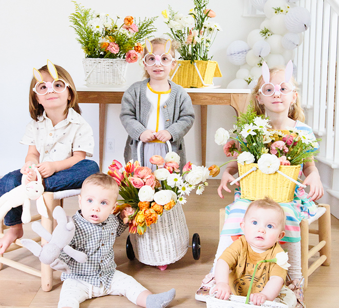 Party Planning: A Fun Flower Arranging Easter Kids Party