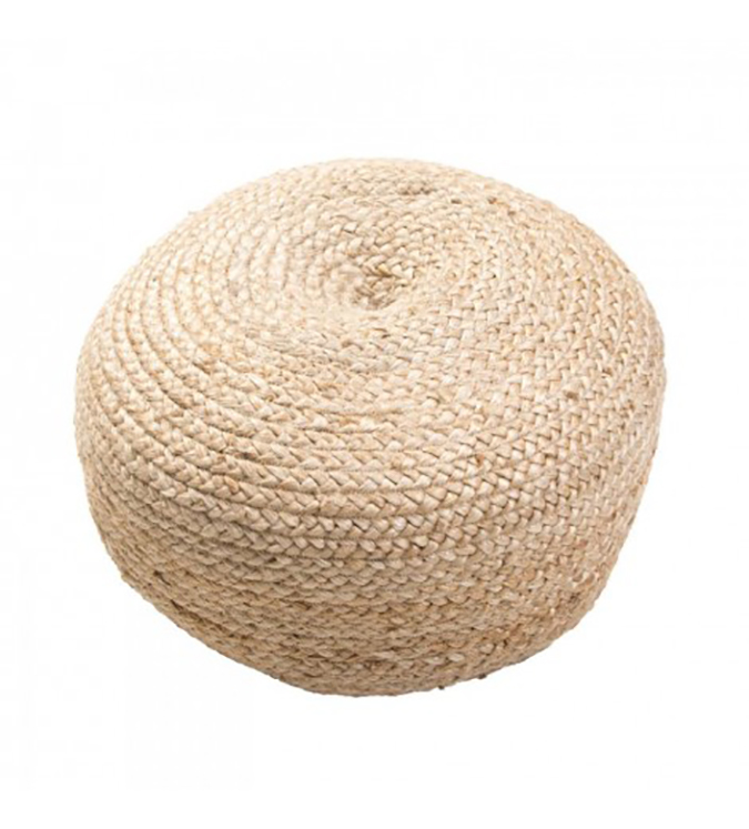 natural round pouf