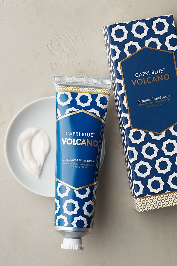 Anthropologie capri blue volcano scented hand cream