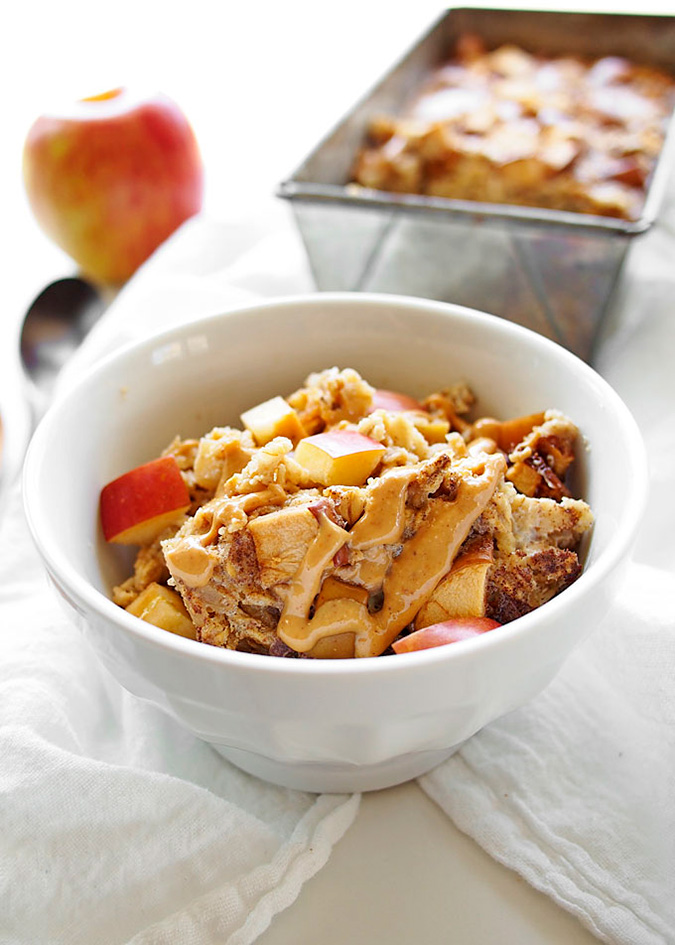 apple peanut butter baked oatmeal via The Kitchen Paper
