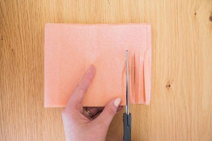 DIY tissue paper tassels via laurenconrad.com