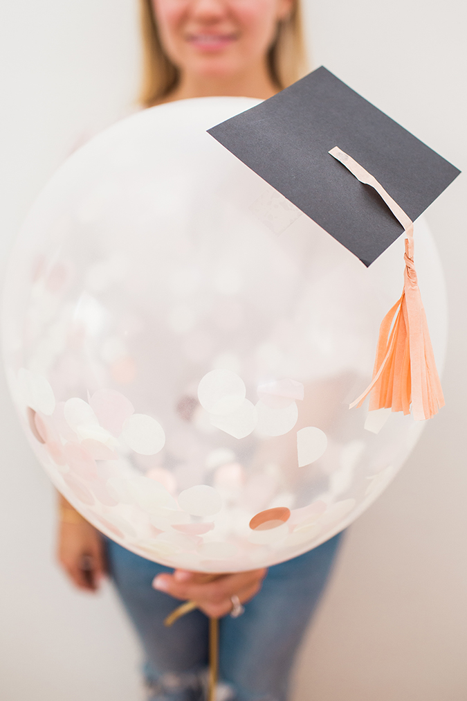 DIY graduation balloons via laurenconrad.com