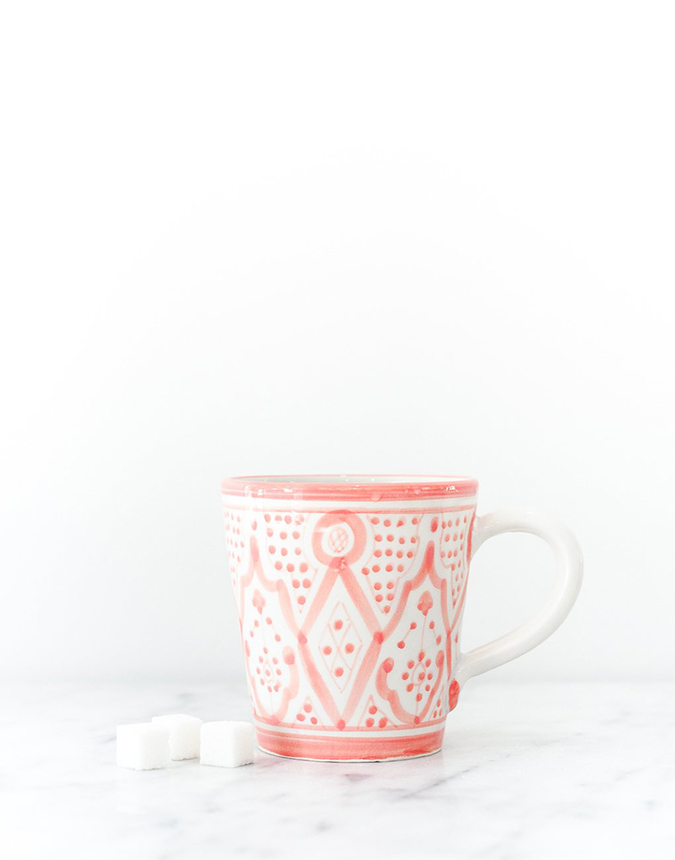 The Little Market pink ceramic mug