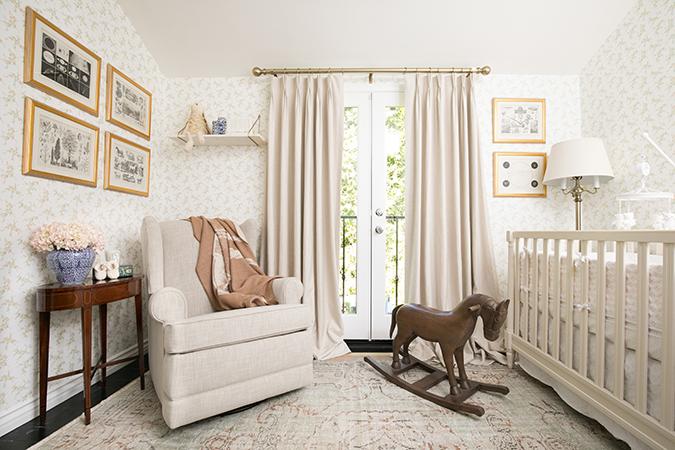 Louise Roe's charming nursery via laurenconrad.com