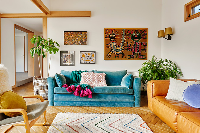 the most colorful home tour via glitter guide