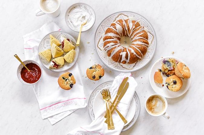 breakfast spread from the Sweet Laurel Cookbook