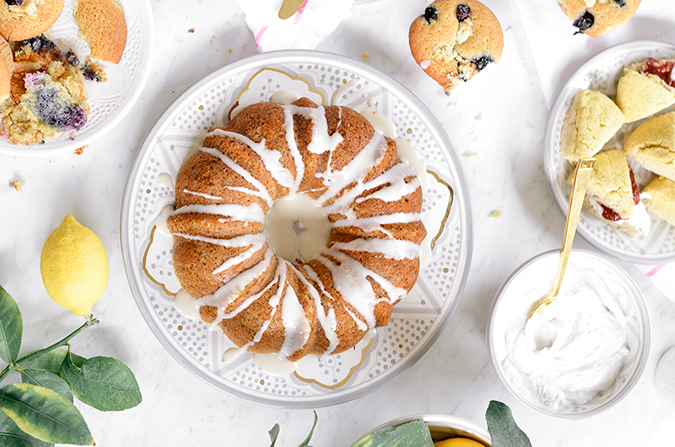 grain-free, dairy-free lemon poppy seed bundt cake