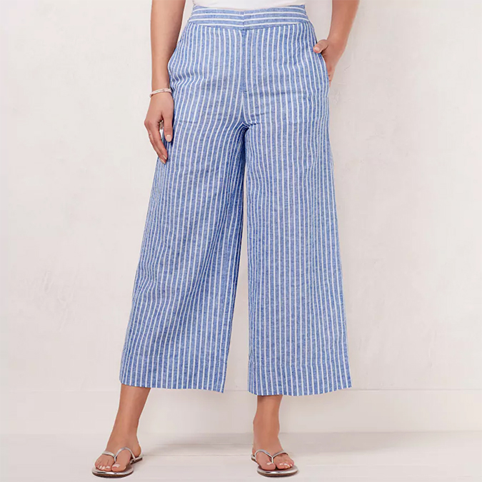 LC Lauren Conrad wide leg beach pants