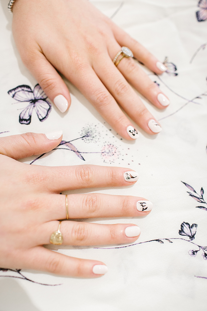LC Lauren Conrad x Olive and June DIY mani