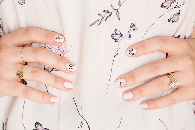 DIY mani inspired by LC Lauren Conrad prints
