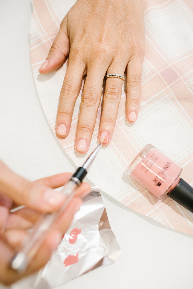 DIY manicure inspired by LC Lauren Conrad prints