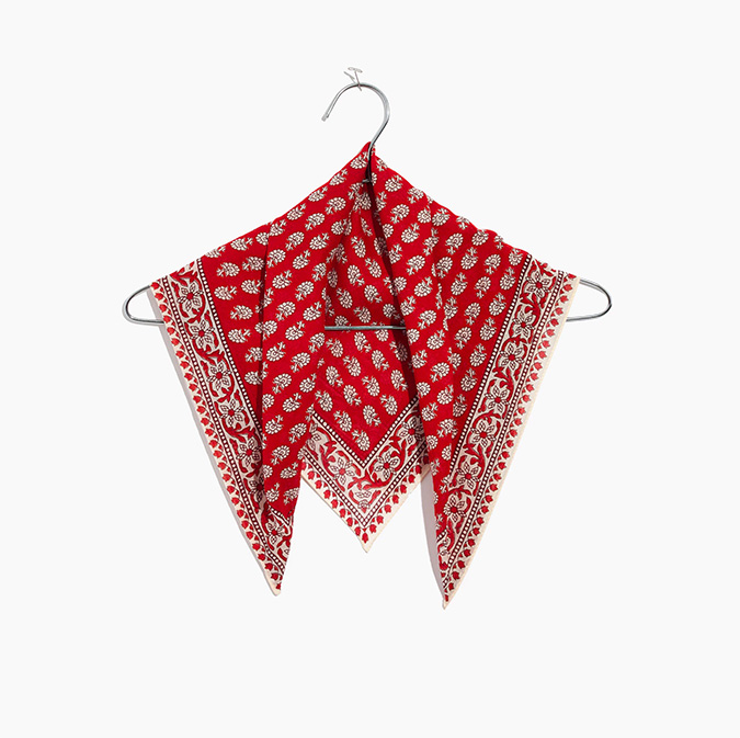 madewell soft cotton bandana