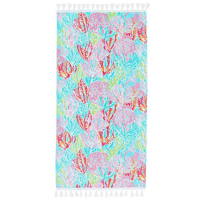 Pottery Barn teen Lilly Pulitzer Let's Cha Cha beach towel