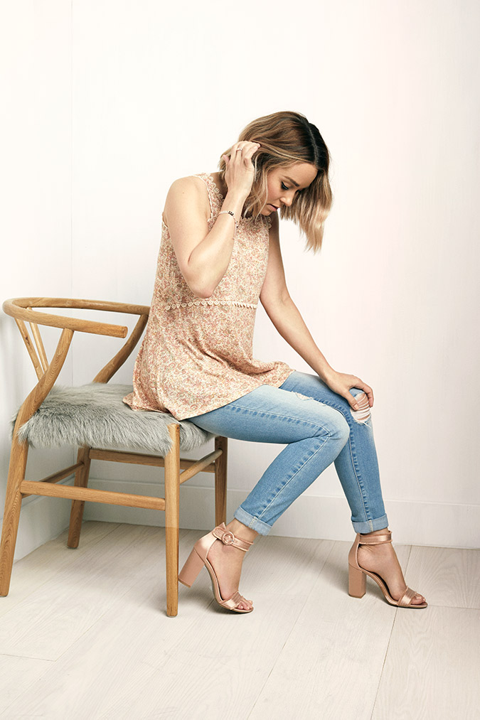 lauren conrad wearing her LC Lauren Conrad collection for kohl's