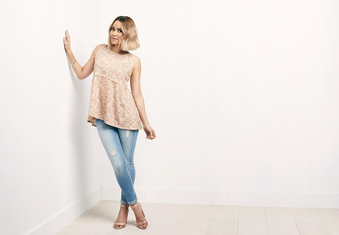 lauren conrad wearing her latest collection for kohl's