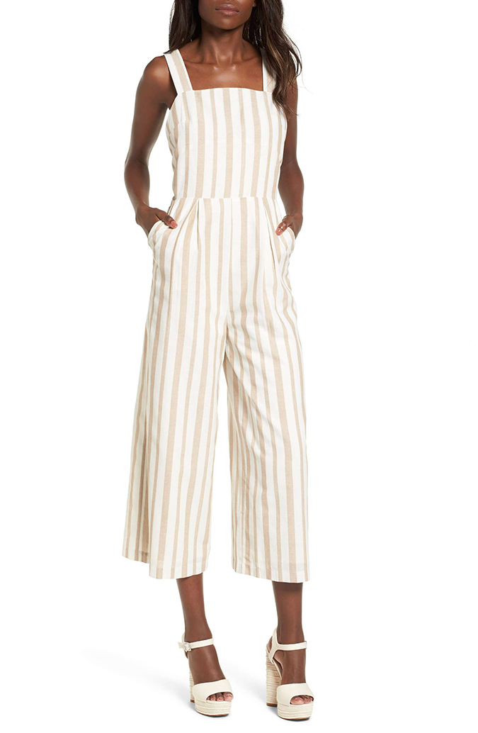 JOA wide leg jumpsuit