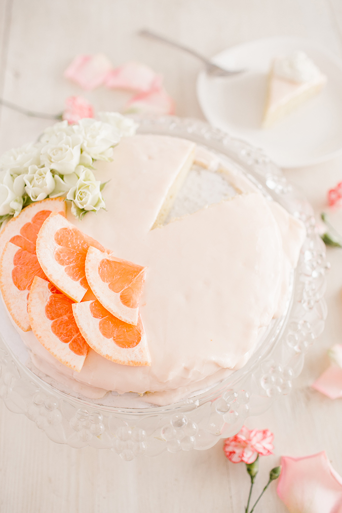 grapefruit cake recipe via Lauren Lowstan on LaurenConrad.com