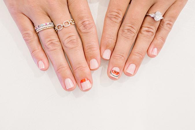 LC Lauren Conrad x Olive and June mani via laurenconrad.com