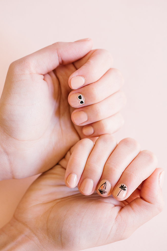 LC Lauren Conrad x Olive and June mani via laurenconrad.com