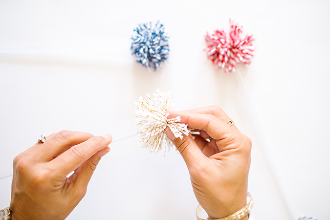 how to make DIY memorial day drink stirrers