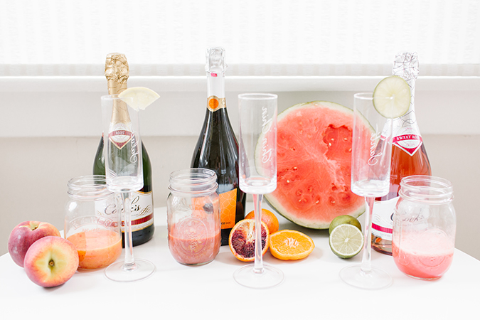 how to create an ombre mimosa bar via laurenconrad.com