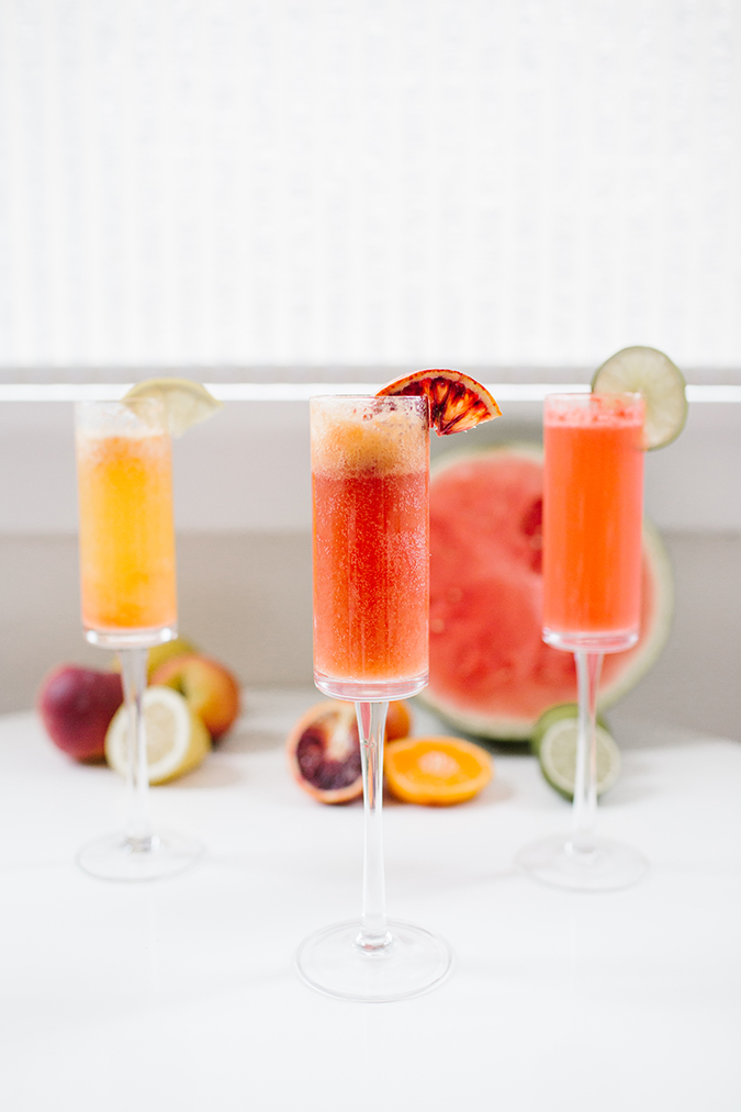 how to create a build-your-own ombre mimosa bar via laurenconrad.com