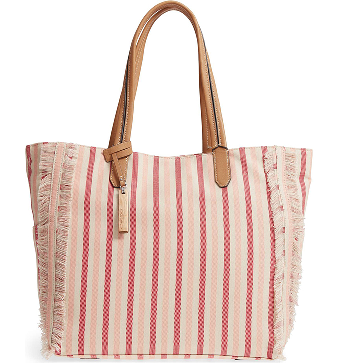 Vince Camuto striped tote