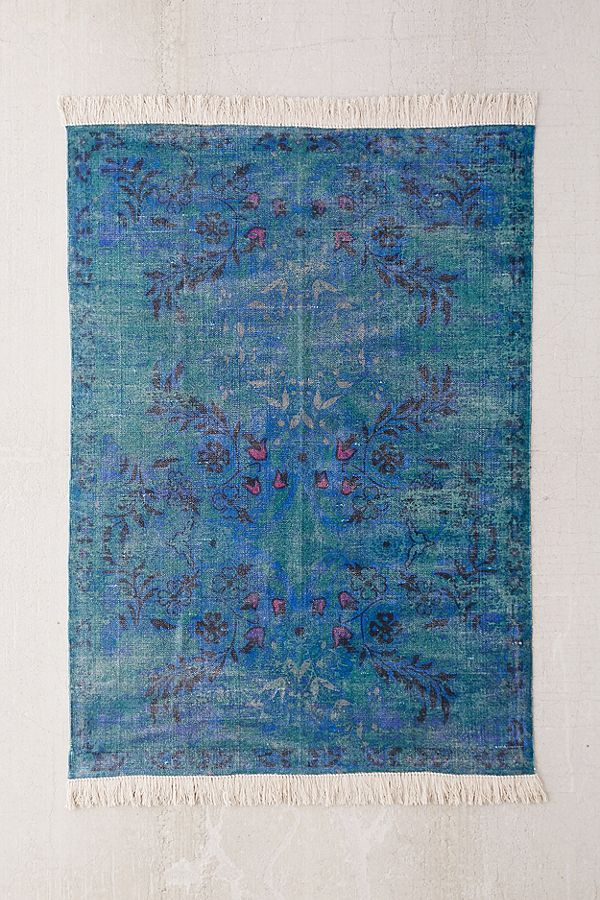 overdyed floral printed rug