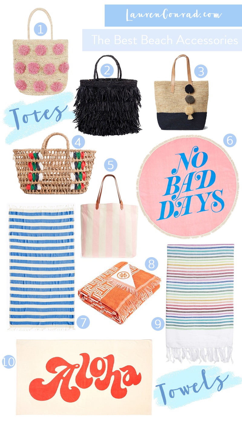 beach accessories roundup via laurenconrad.com