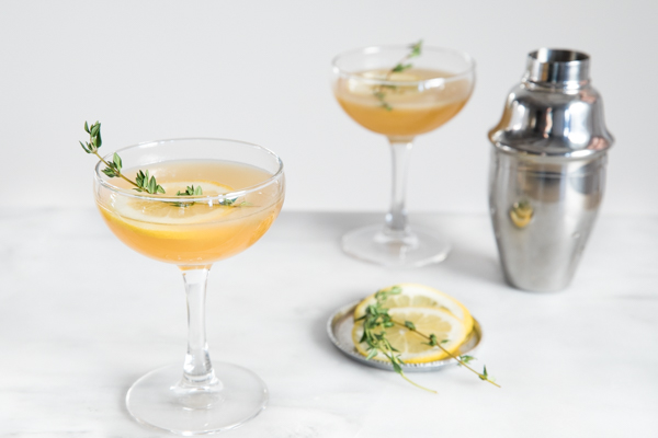 lemon and fig cocktail via bourbon and honey