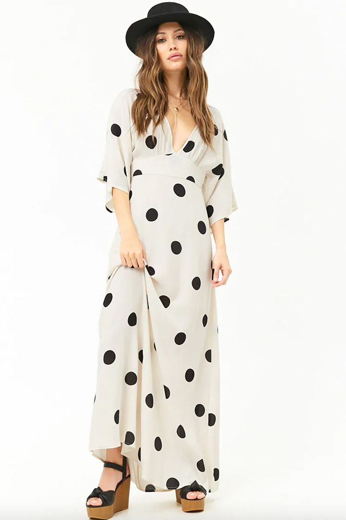 Forever21 polka dot maxi dress