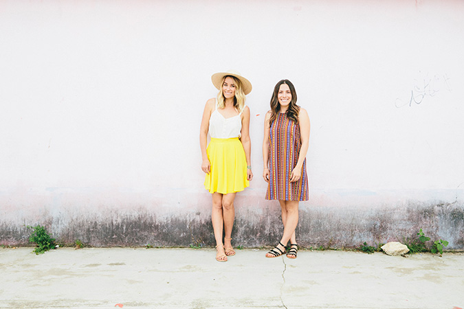 Lauren Conrad and Hannah Skvarla in Mexico for The Little Market