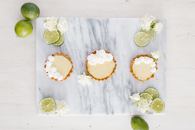 mini key lime pies recipe via laurenconrad.com